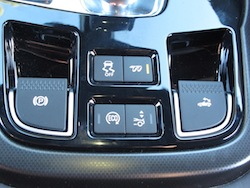 2014 Jaguar F-Type Convertible Orange center console buttons
