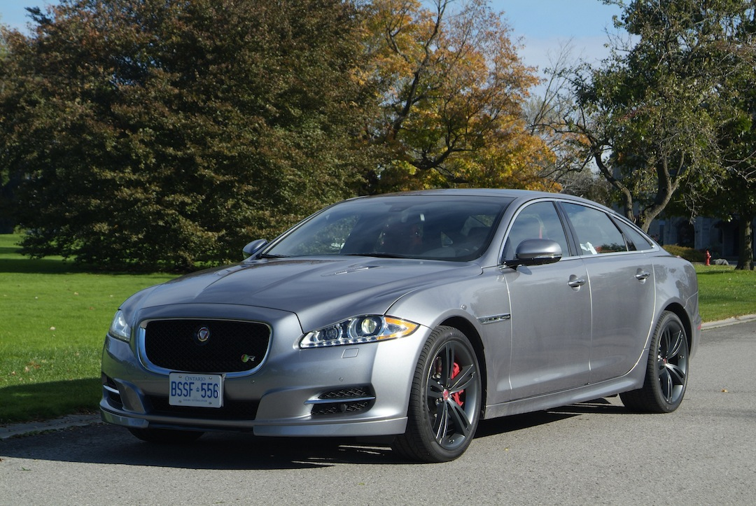 2014 Jaguar XJR L Silver front side view