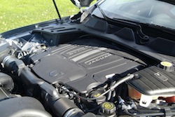 2014 Jaguar XJR L Silver engine bay