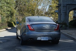 2014 Jaguar XJR L Silver rear