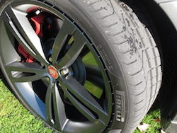 2014 Jaguar XJR L Silver wheel treads rims