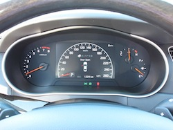 2014 Kia Cadenza black instrument cluster with gauges