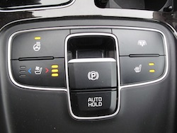2014 Kia Cadenza black heated seat controls with parking brake and wheel