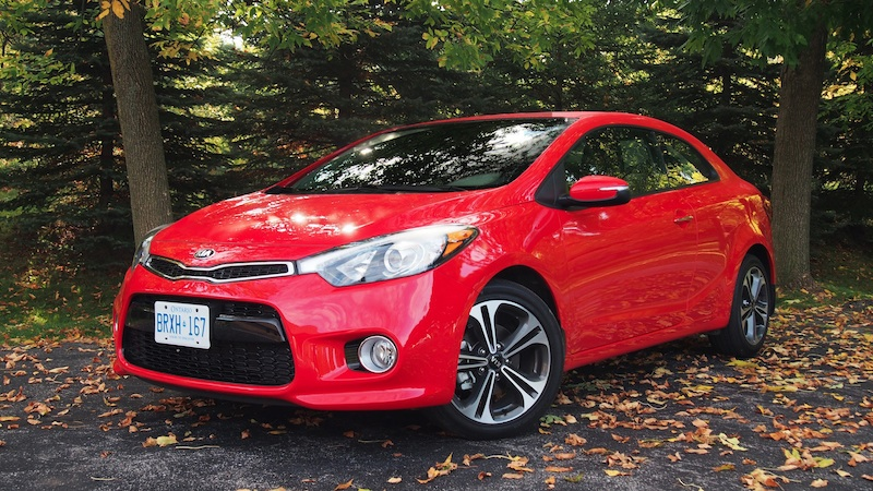 2014 Kia Forte Koup red