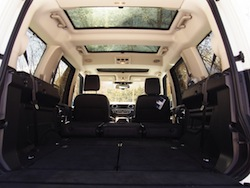 2014 Land Rover LR4 HSE trunk view all seats folded down