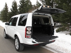 2014 Land Rover LR4 HSE white entire trunk open