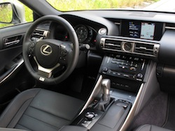 2014 Lexus IS350 F-Sport AWD gun metal grey interior dashboard steering wheel