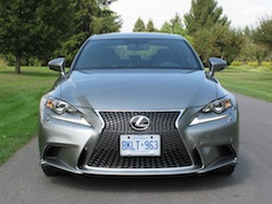 2014 Lexus IS350 F-Sport AWD gun metal grey front view