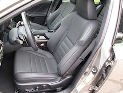 2014 Lexus IS350 F-Sport AWD gun metal grey interior front seats