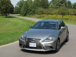 2014 Lexus IS350 F-Sport AWD gun metal grey front side view