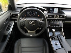 2014 Lexus IS350 F-Sport AWD gun metal grey interior dashboard steering wheel controls