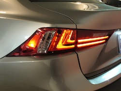 2014 Lexus IS350 F-Sport AWD gun metal grey taillights rear