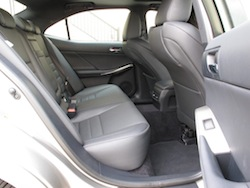 2014 Lexus IS350 F-Sport AWD gun metal grey interior rear seats