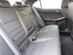 2014 Lexus IS350 F-Sport AWD gun metal grey rear seats