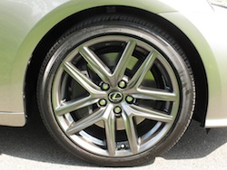 2014 Lexus IS350 F-Sport AWD gun metal grey wheels rims