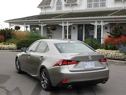 2014 Lexus IS350 F-Sport AWD gun metal grey rear side view