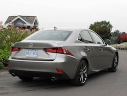 2014 Lexus IS350 F-Sport AWD gun metal grey rear view