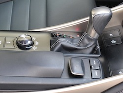 2014 Lexus IS350 F-Sport AWD gun metal grey center console gear shifter controls