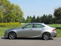 2014 Lexus IS350 F-Sport AWD gun metal grey side view