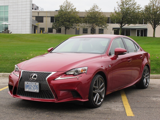 2014 Lexus IS350 F-Sport RWD Red front side view