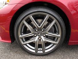 2014 Lexus IS350 F-Sport RWD Red wheels rims brakes and calipers