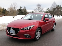 2014 Mazda 3 Sport GS Soul Red front side view