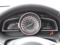 2014 Mazda 3 Sport GS Soul Red instrument cluster gauges