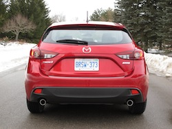 2014 Mazda 3 Sport GS Soul Red rear view