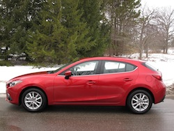 2014 Mazda 3 Sport GS Soul Red side view