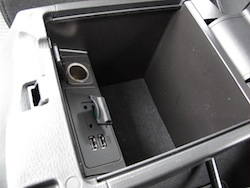 2014 Mazda 3 Sport GS Soul Red center console storage