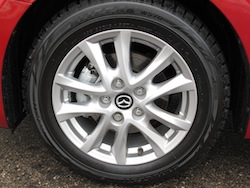 2014 Mazda 3 Sport GS Soul Red wheel rims brakes and calipers