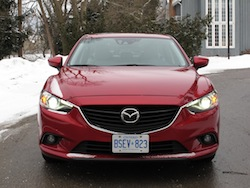 2014 Mazda 6 GT Red full front view