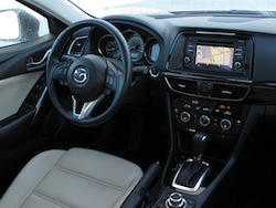 2014 Mazda 6 GT Red interior dashboard view