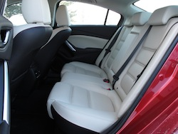 2014 Mazda 6 GT Red rear leather seats