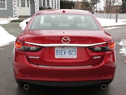 2014 Mazda 6 GT Red full rear view