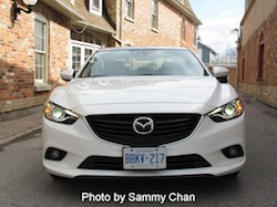 2014 Mazda 6 GT white front view