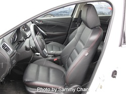 2014 Mazda 6 GT white front seats view