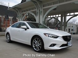 2014 Mazda 6 GT white front side view