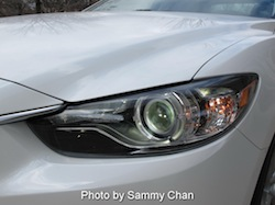 2014 Mazda 6 GT white front headlights lights