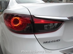 2014 Mazda 6 GT white rear view taillights