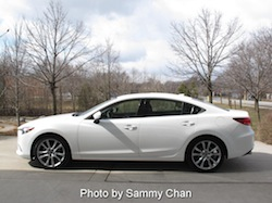2014 Mazda 6 GT white side view