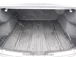 2014 Mazda 6 GT white trunk space