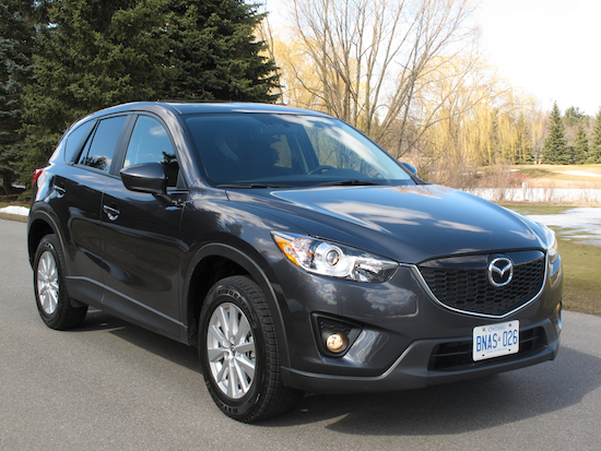 2014 Mazda CX-5 GS AWD front side view gray