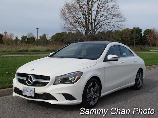 2014 Mercedes-Benz CLA250 White front side view
