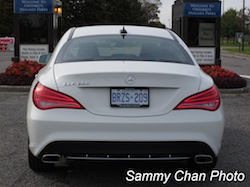 2014 Mercedes-Benz CLA250 White rear view taillights exhausts