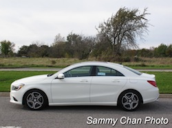 2014 Mercedes-Benz CLA250 White side view