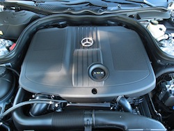 2014 Mercedes-Benz E250 BlueTEC Silver engine
