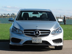 2014 Mercedes-Benz E250 BlueTEC Silver front view headlights