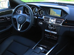 2014 Mercedes-Benz E250 BlueTEC Silver interior steering wheel