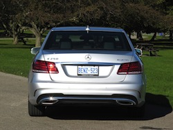 2014 Mercedes-Benz E250 BlueTEC Silver rear view exhausts taillights